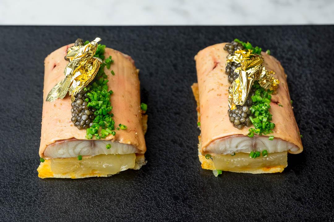 FG Food Labs Rotterdam zuurdesemtoast appelcompote IJsselmeerpaling foie kaviaar