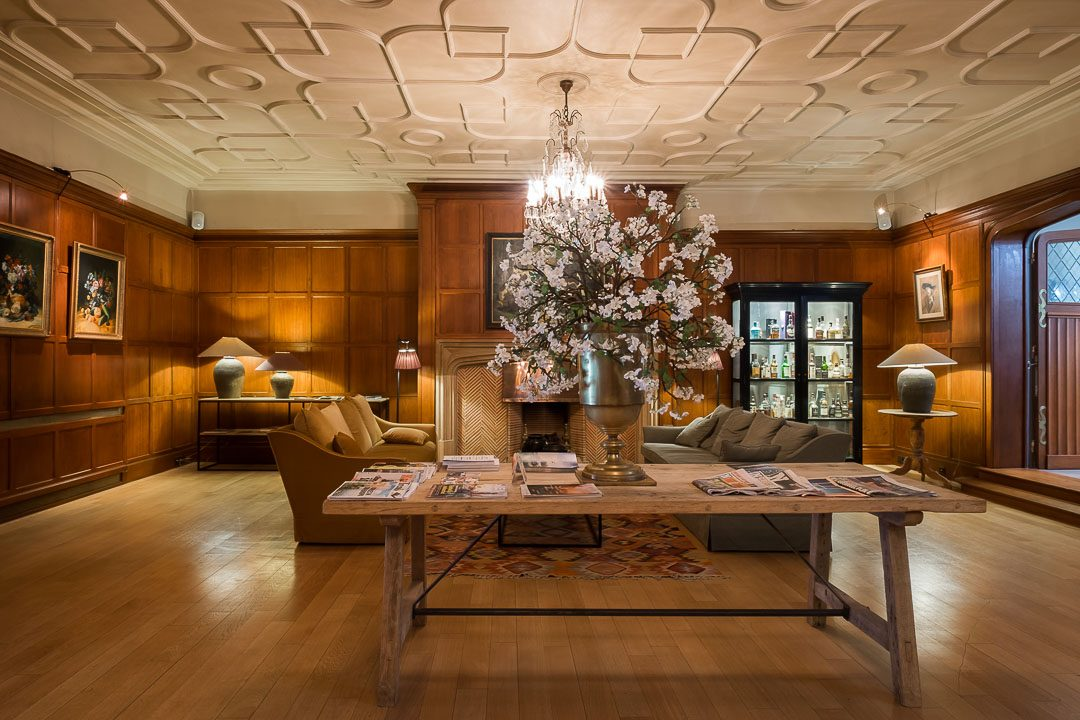 hotel Damier Kortrijk lobby haard