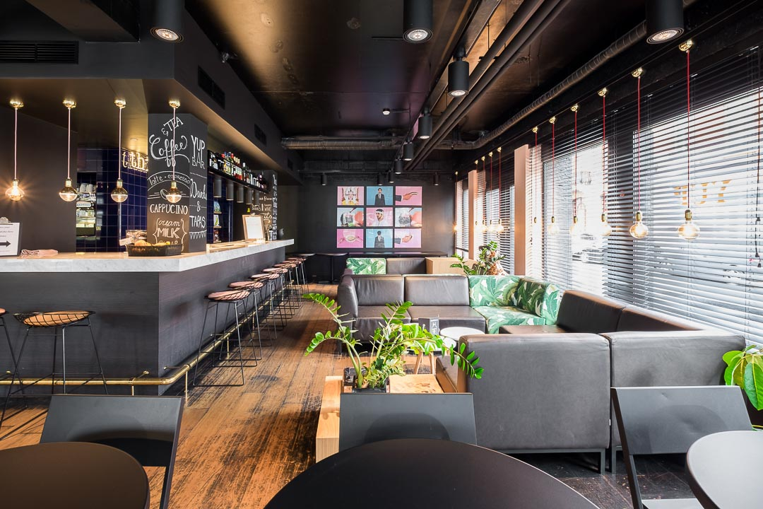 Hotel Yup Hasselt bar zithoek interieur