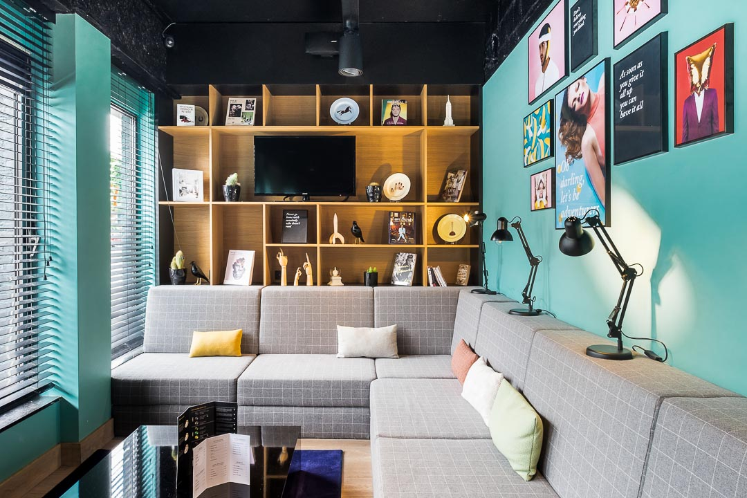 Hotel Yup Hasselt interieur lounge