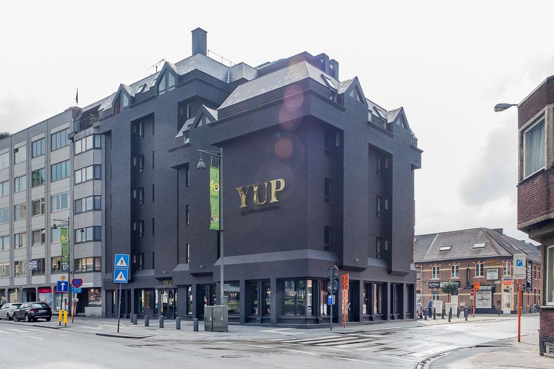 Hotel Yup Hasselt gebouw locatie