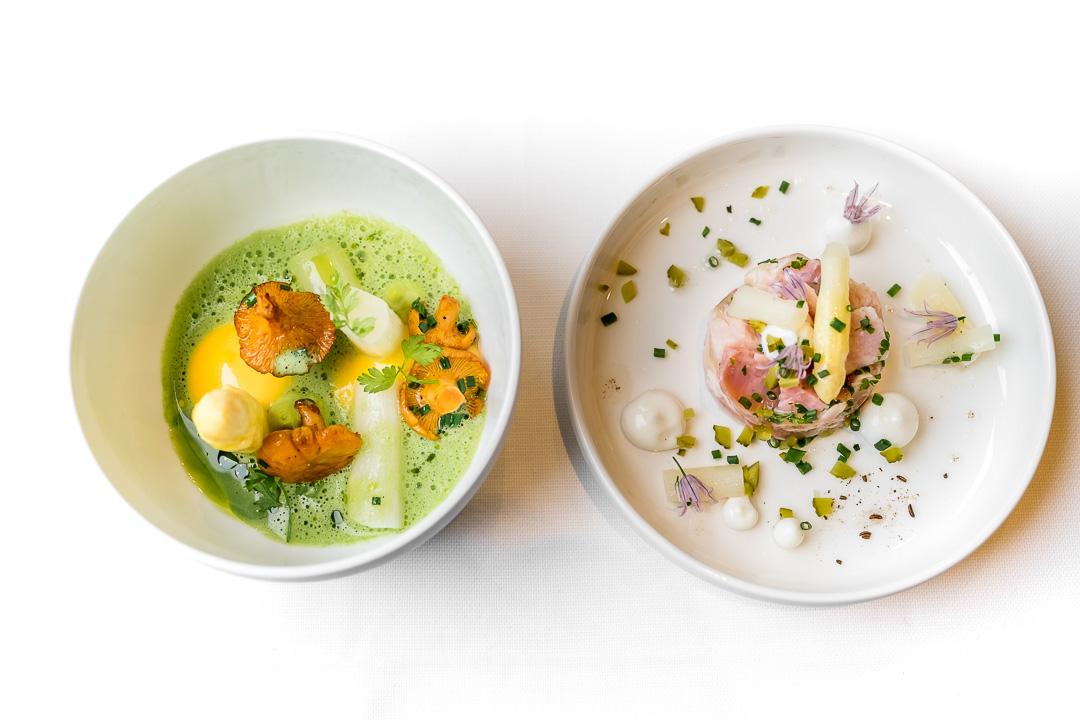 Restaurant JER Hasselt witte asperges tuinkruiden