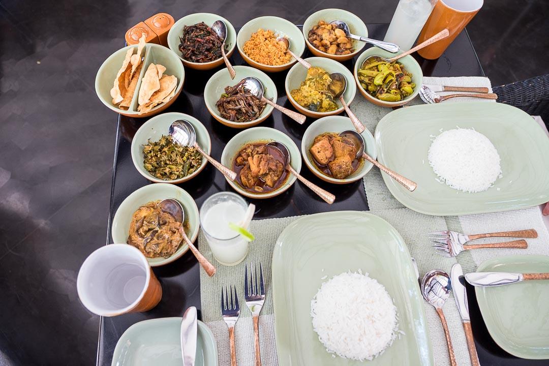Jetwing Kaduruketha hotel Sri Lanka rice curry lunch