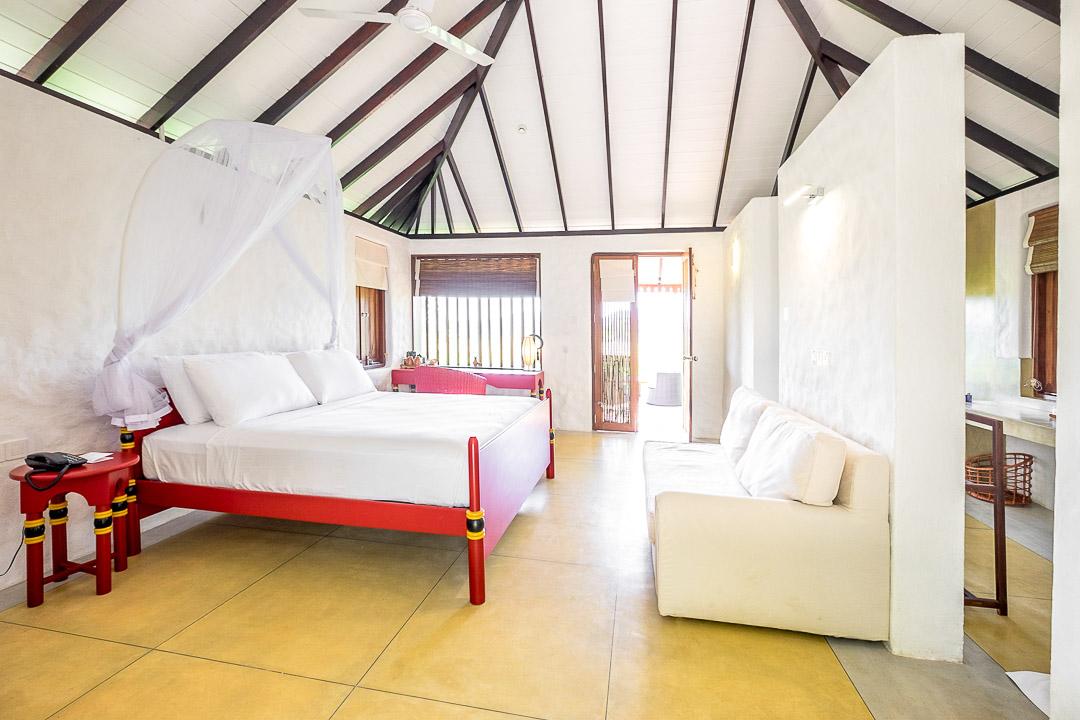Jetwing Kaduruketha hotel Sri Lanka slaapkamer