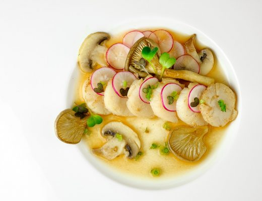 recept sint-jacobsvruchten champignons miso