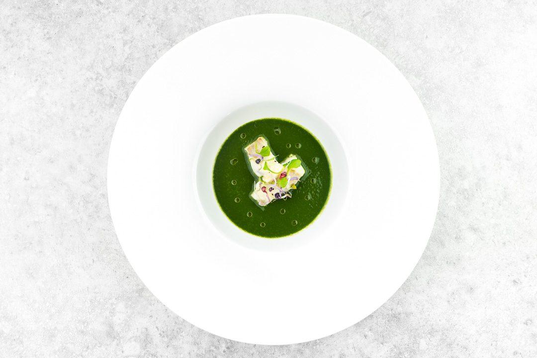soep spinazie kabeljauw postelein