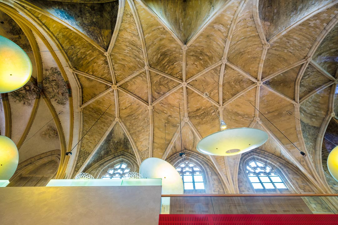 Kruisherenhotel Maastricht interieur plafond