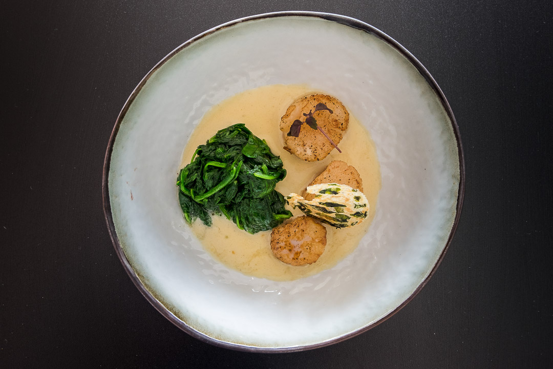 restaurant Cafe d'o Sint-Amands spinazie coquille wakame