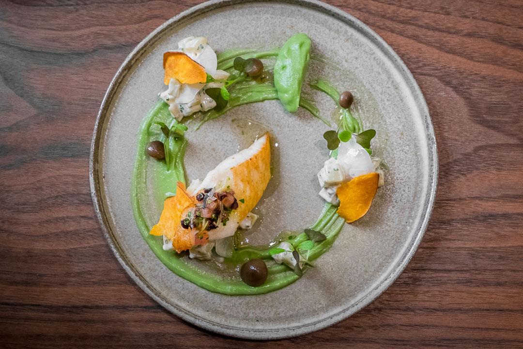 restaurant COSTES Downtown Boedapest vis aardappel