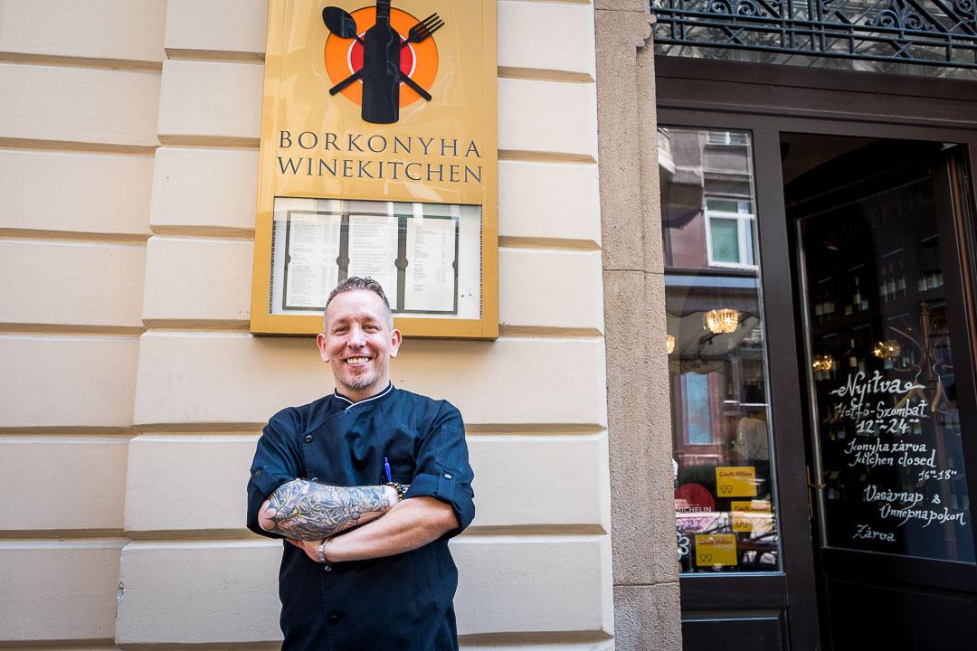 Borkonyha Boedapest restaurant chef Ákos Sárközi