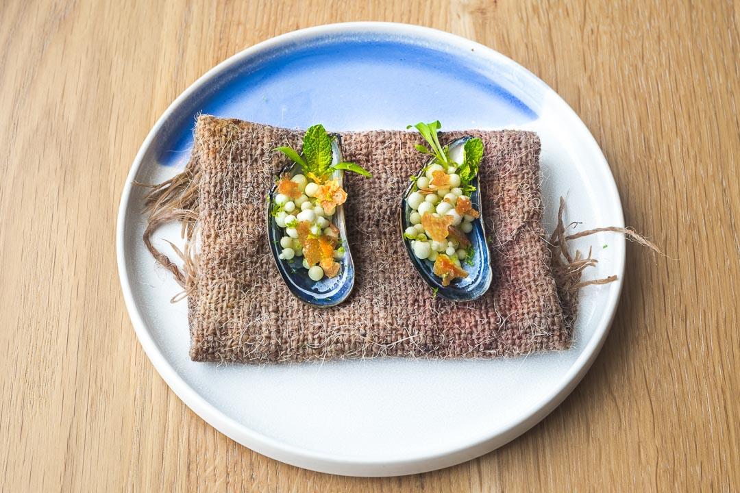 restaurant pure c cadzand mussel kaffir coconut