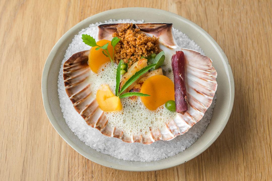 restaurant pure c cadzand scallop huacatay