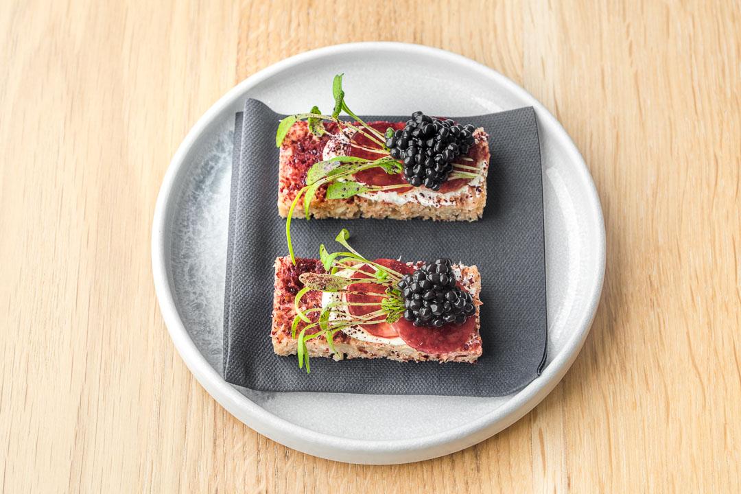restaurant pure c cadzand spelt bread herring beetroot