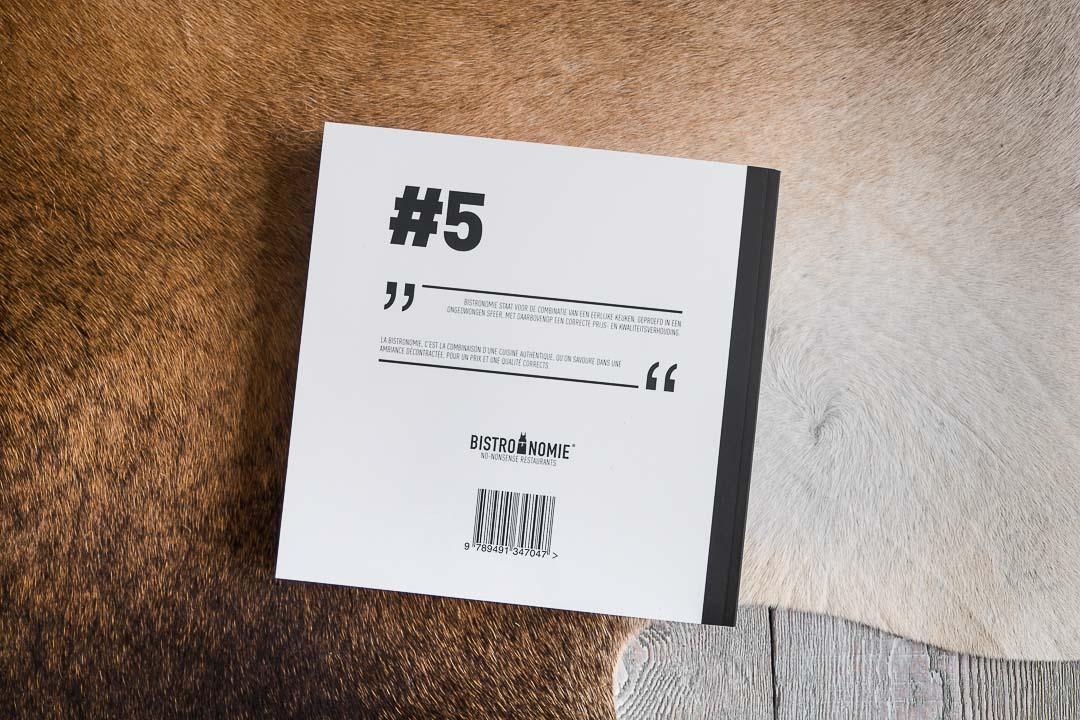Bistronomie Gids #5 lancering backcover boek