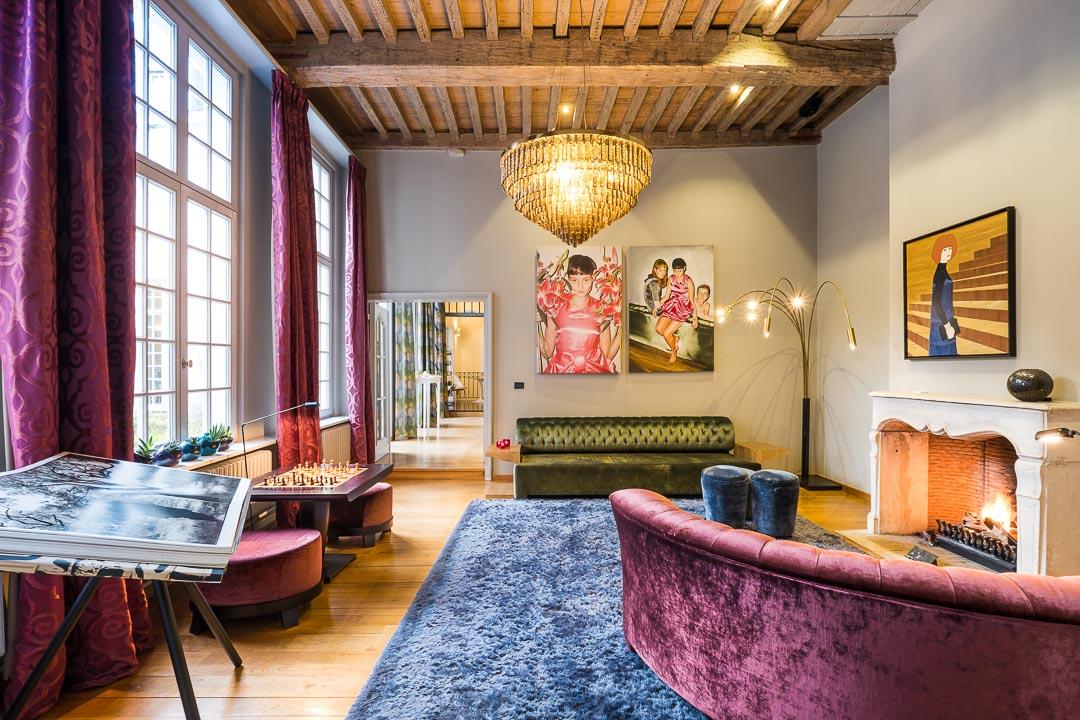 Hotel De Witte Lelie Antwerpen schaakruimte