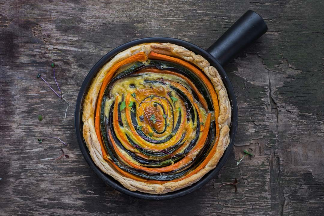quiche wortel courgette aubergine