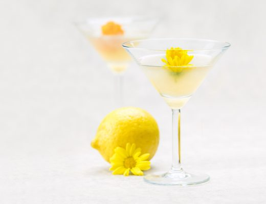 marsala aviation cocktail edible flowers lemon gin violet