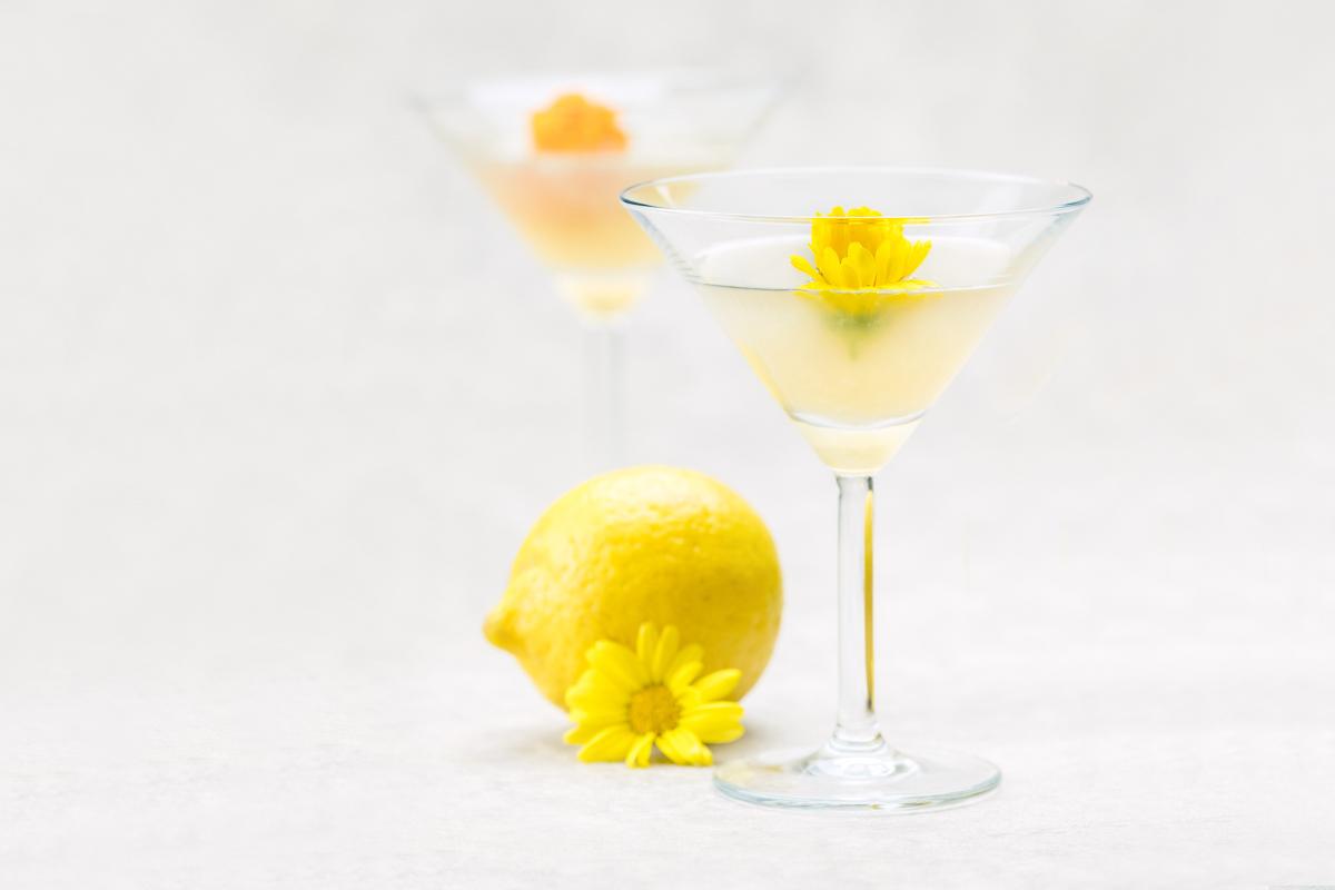 marsala aviation cocktail edible flowers lemon gin violet