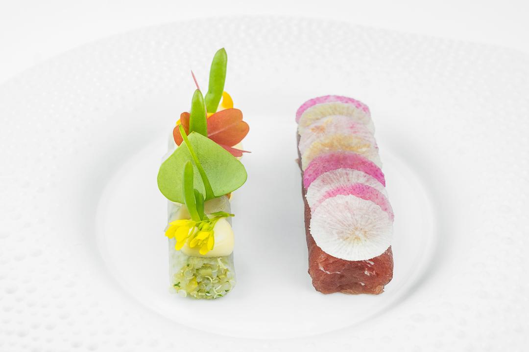 tonijn quinoa citroen dashi zeekool