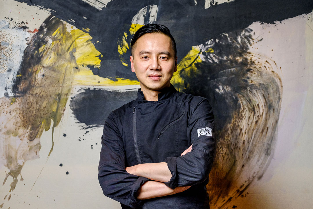 Chef Trung Hoang of The Living Resto & Winebar in Brussels, Belgium.