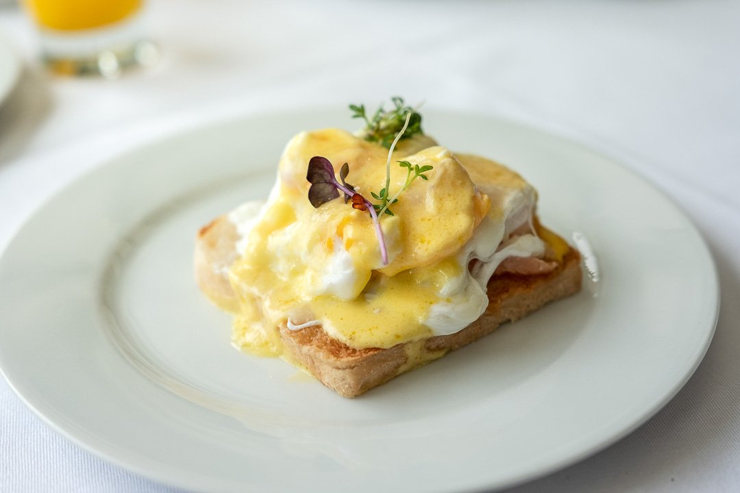 Burg Schwarzenstein and Nils Henkel by Hungry for More. Burg Schwarzenstein. Eggs Benedict.