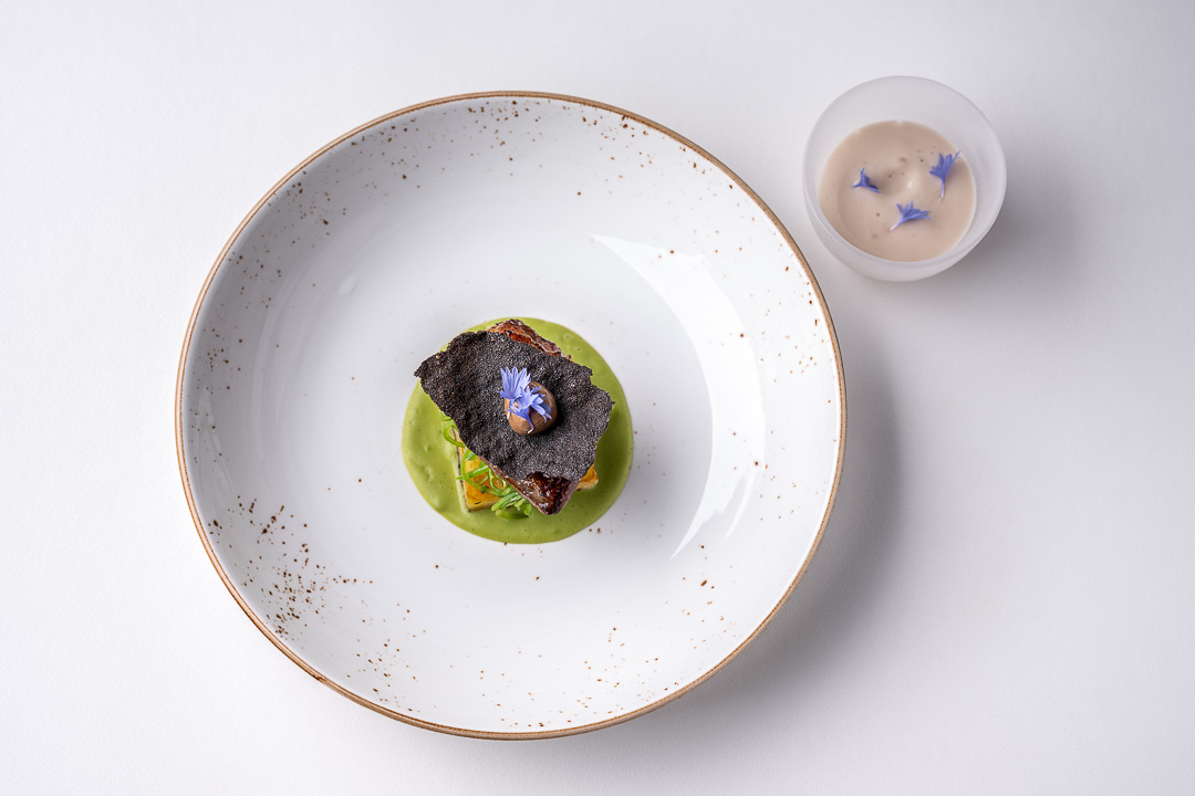 Dove 'clamart' with peas and shallot. Auberge De Herborist by Hungry for More.