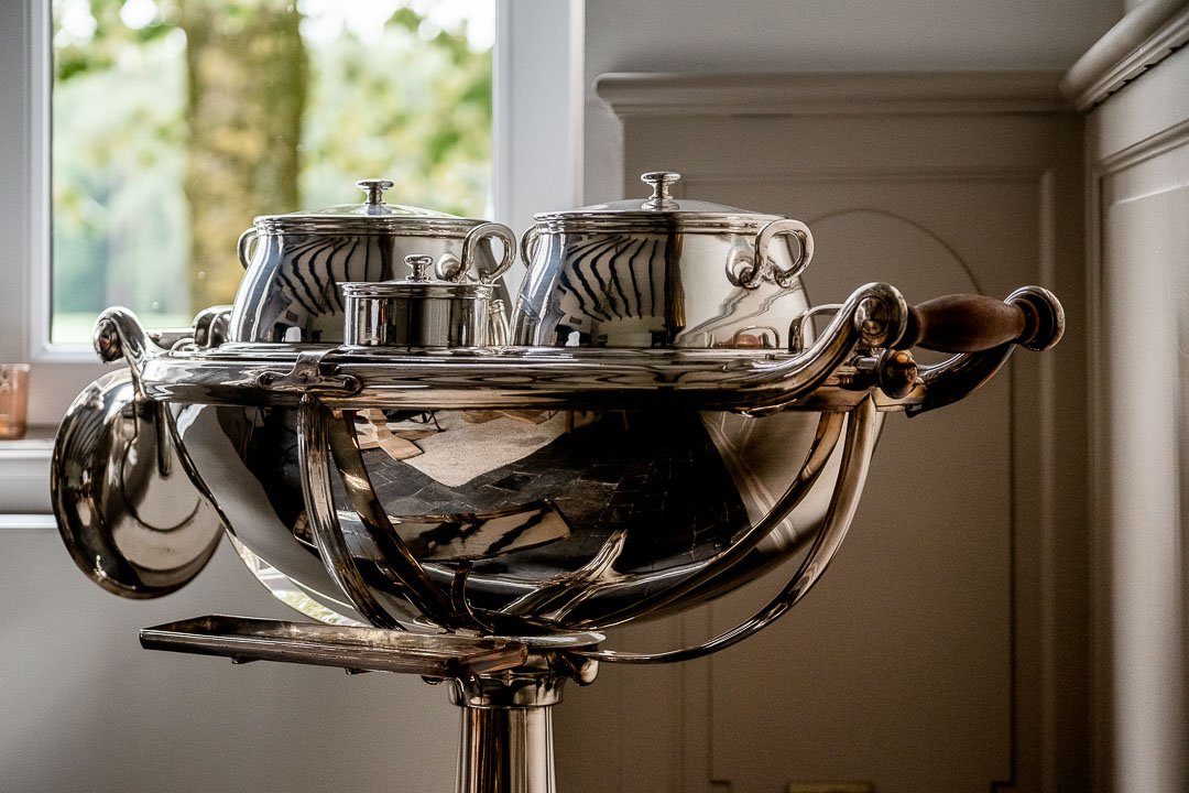 Silver pots. Auberge De Herborist by Hungry for More.