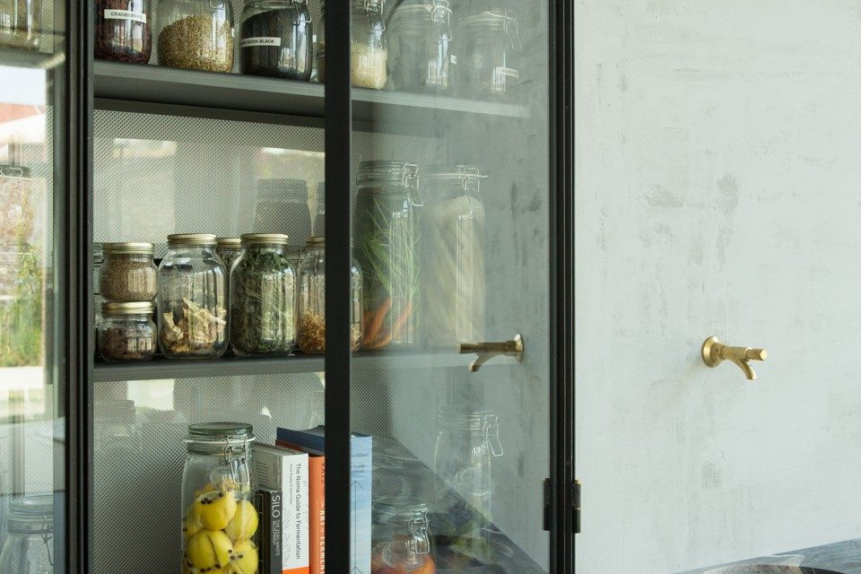 NALA by Hungry for More. Open glass cabinet.