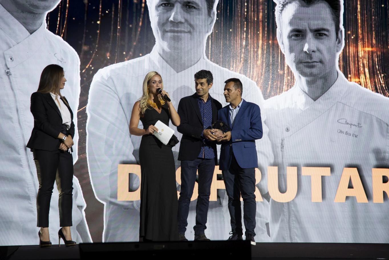 The Best Chef Awards 2019: the highlights. Awards Gala. Disfrutar with Mateu Casañas, Oriol Castro and Eduard Xatruch.