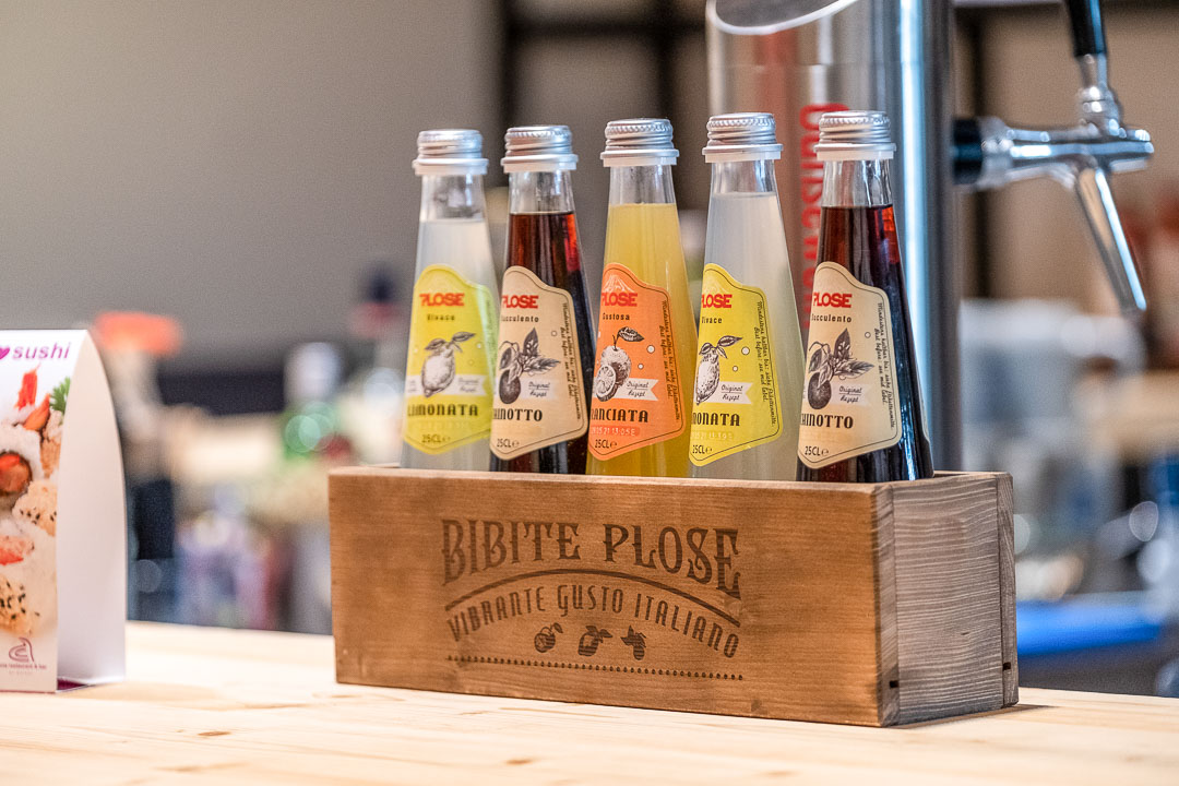 Schwabinger Wahrheit Munich by Geisel by Hungry for More. Five bottles of lemonade in a wooden crate.