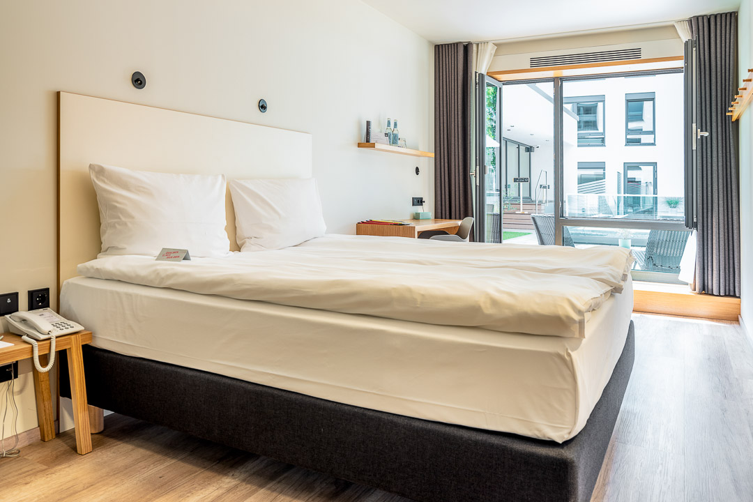 Schwabinger Wahrheit Munich by Geisel by Hungry for More. Room with a bed and terrace view.
