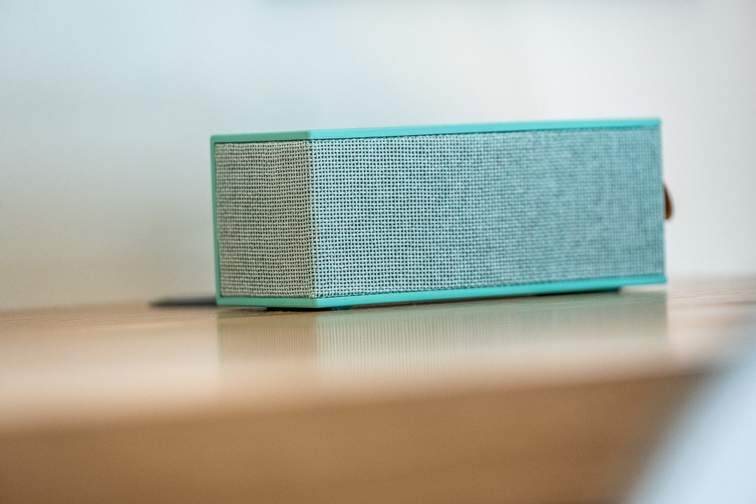 Schwabinger Wahrheit Munich by Geisel by Hungry for More. Blue speaker on a desk.