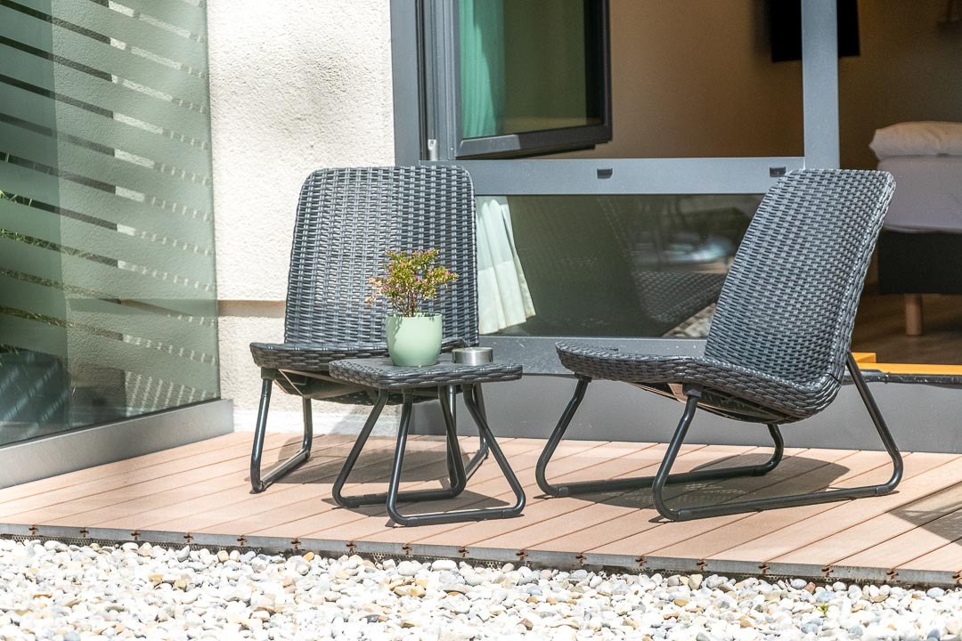 Schwabinger Wahrheit Munich by Geisel by Hungry for More. Terrace chairs.
