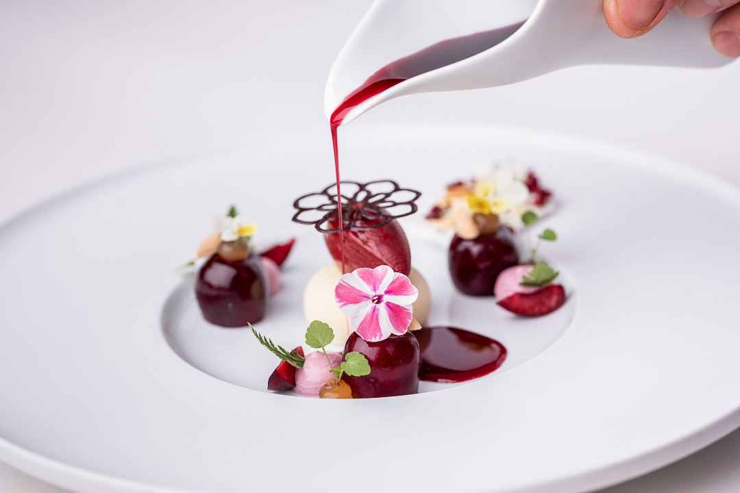 Werneckhof Munich by Hungry for More. Cherry, meadowsweet, almond, Amontillado Sherry & cicely. Front action view 2.