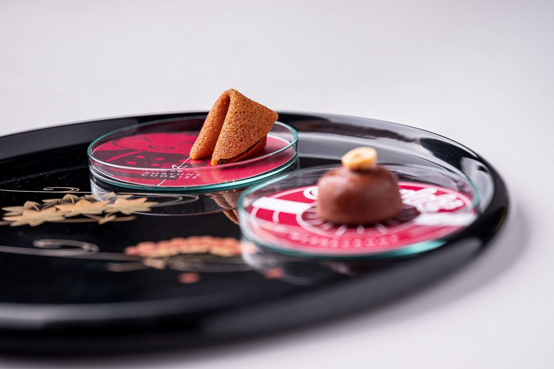Werneckhof Munich by Hungry for More. Friandises. Fortune cookie and ice cream praline.