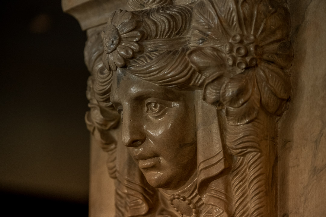 Werneckhof Munich by Hungry for More. Interior. Face ornament.
