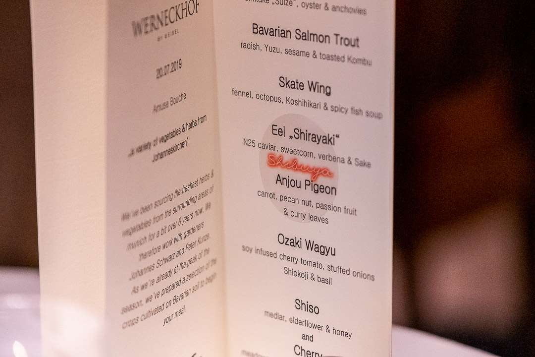 Werneckhof Munich by Hungry for More. Menu card.
