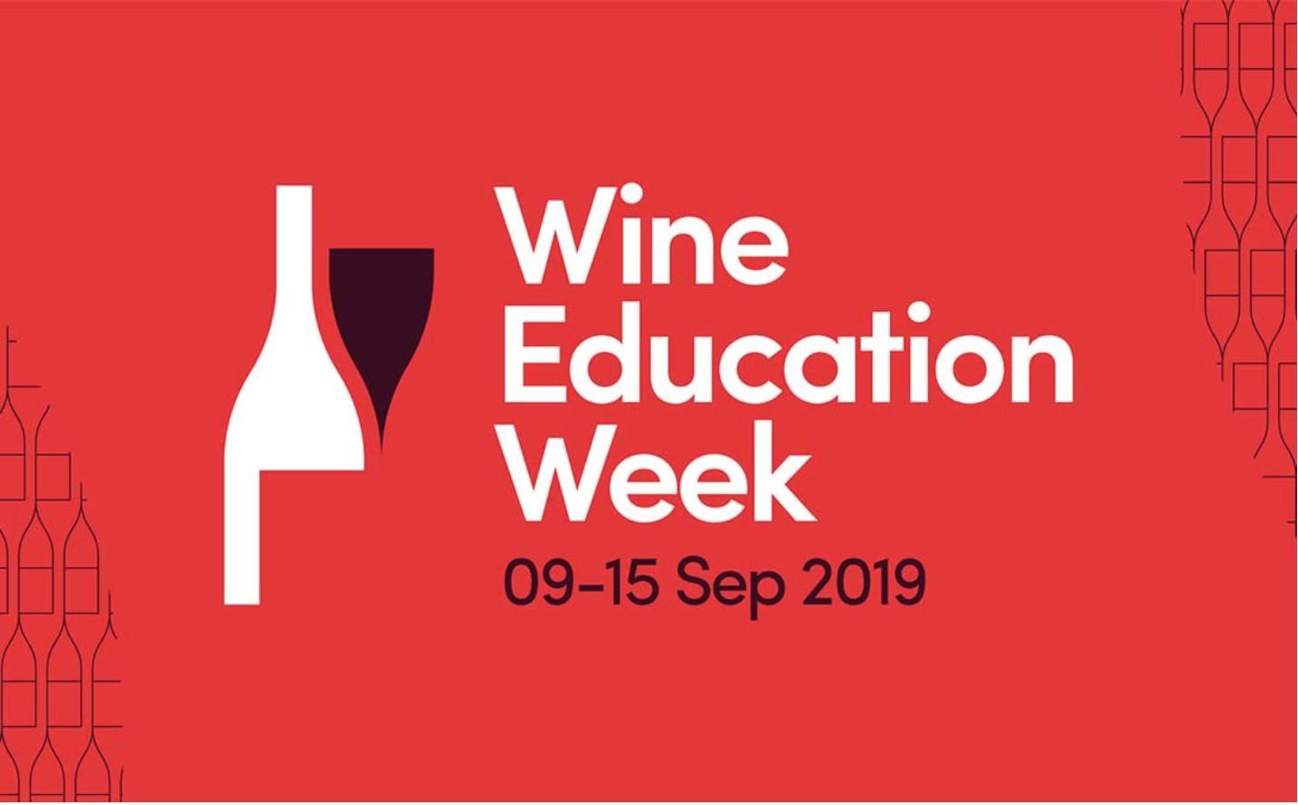 Wine Education Week 09-15 Sep 2019. Logo.