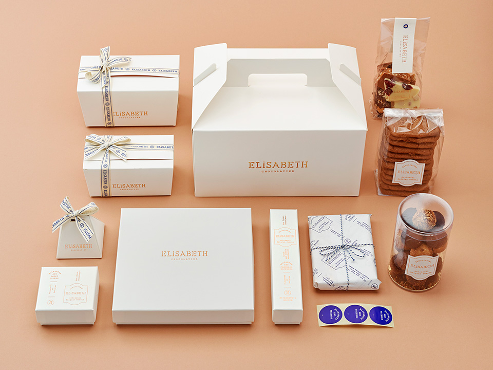 Packshots of the products of Chocolatier Elisabeth.