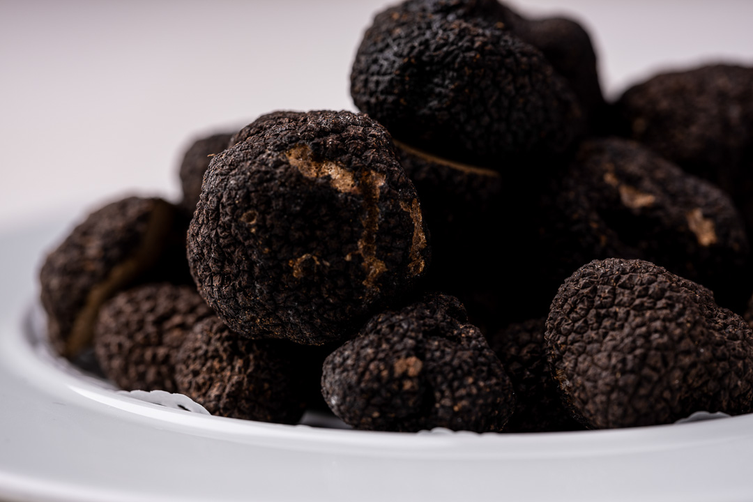 La Truffe Noire by Hungry for More. Details of the black truffles.