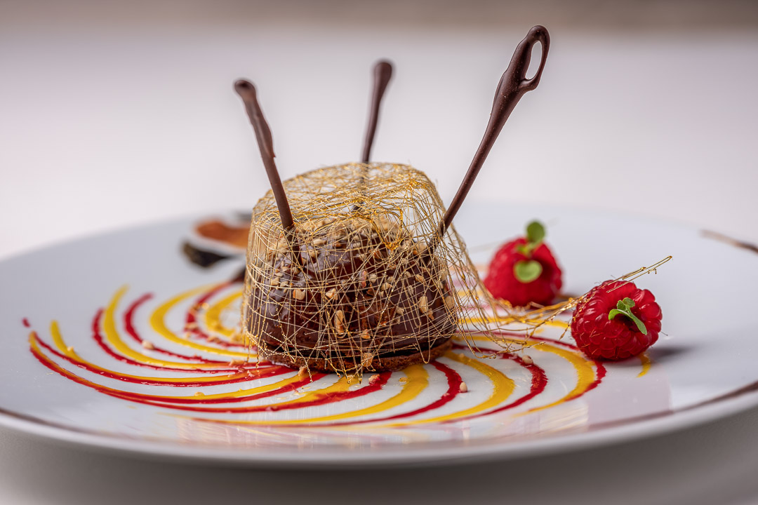 La Truffe Noire by Hungry for More. Details of the dessert with chocolate by chef Luigi Ciciriello.