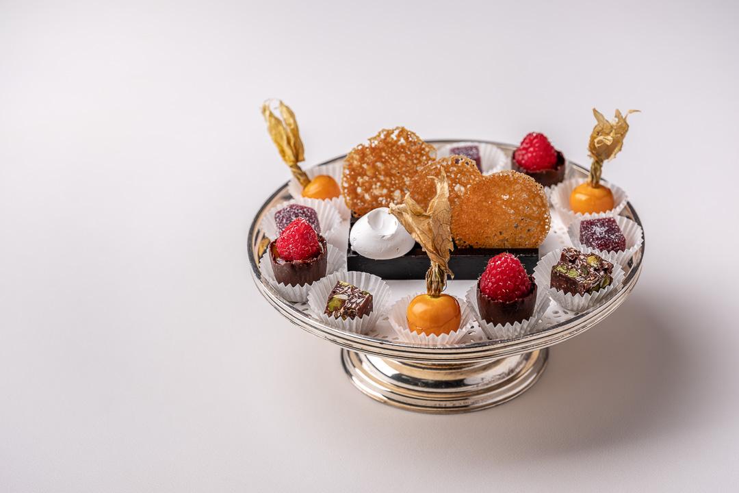 La Truffe Noire by Hungry for More. Top shot of the mignardises by chef Luigi Ciciriello.