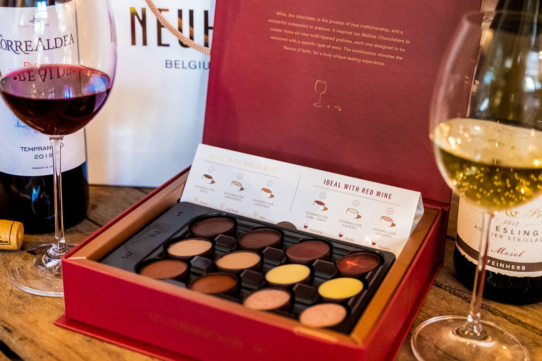 Neuhaus x Sepideh by Hungry for More. Look inside the chocolate box.