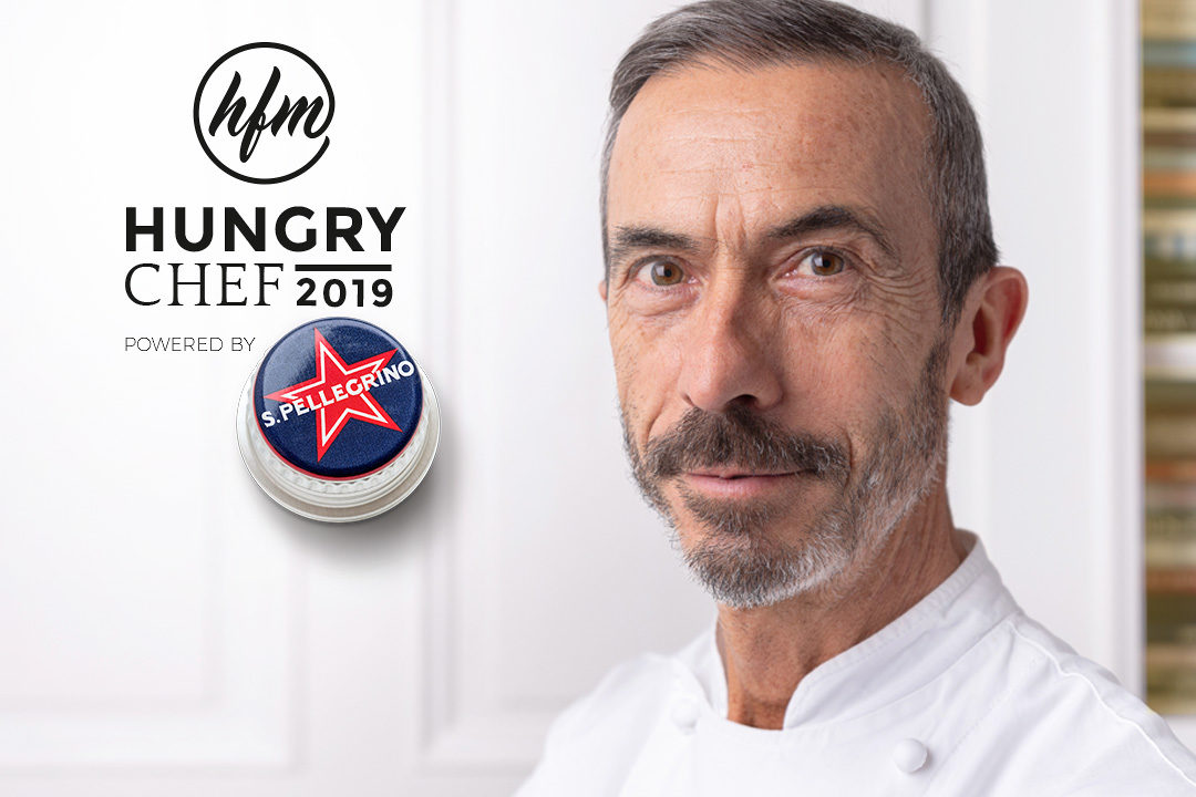 Mosconi by Hungry for More. Chef Ilario Mosconi with looking at the camera.
