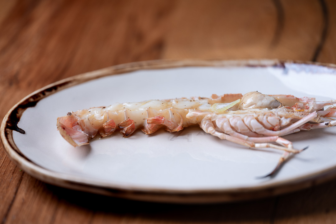 Suculent by Hungry for More. Grilled Norway lobster by chef Antonio Romero.