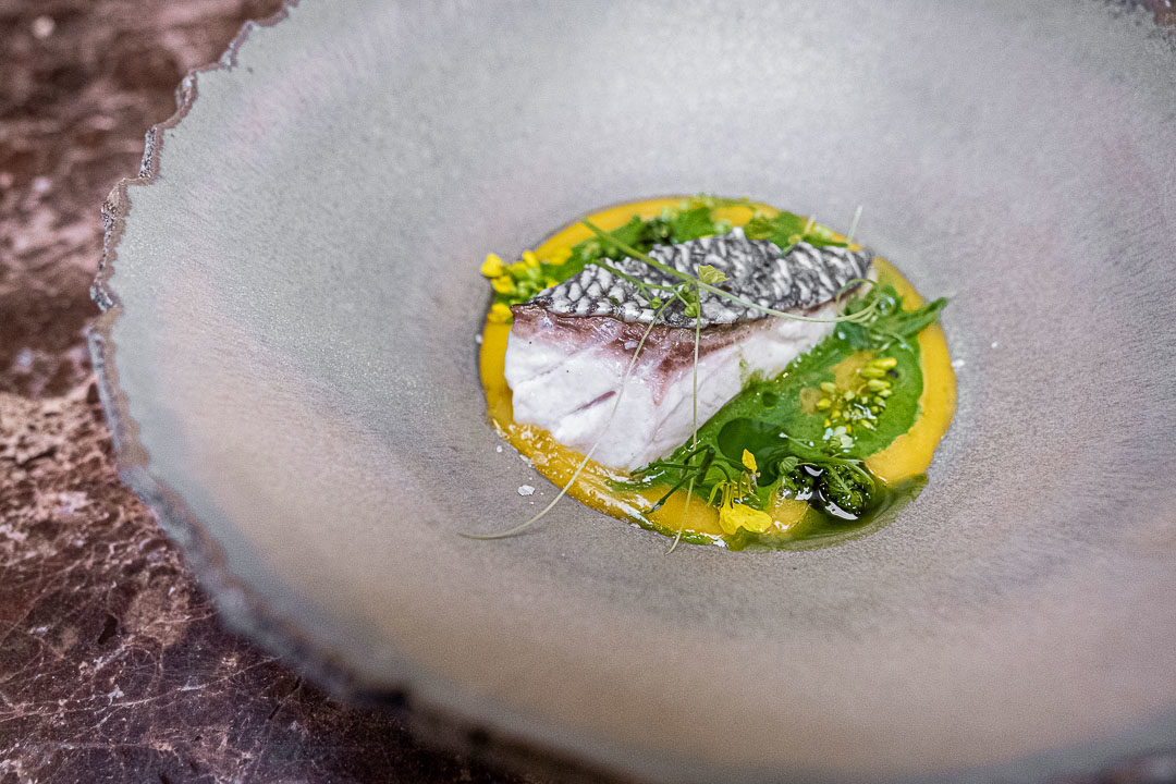 Taxi's by Hungry for More. Goudbrasem met een jus van groene kruiden by chef Gilles Bogaert.