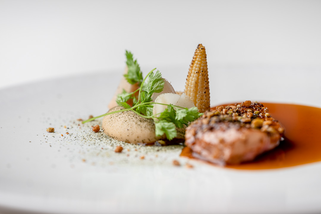 Kommilfoo by Hungry for More. Details of the partridge by chef Olivier de Vinck.