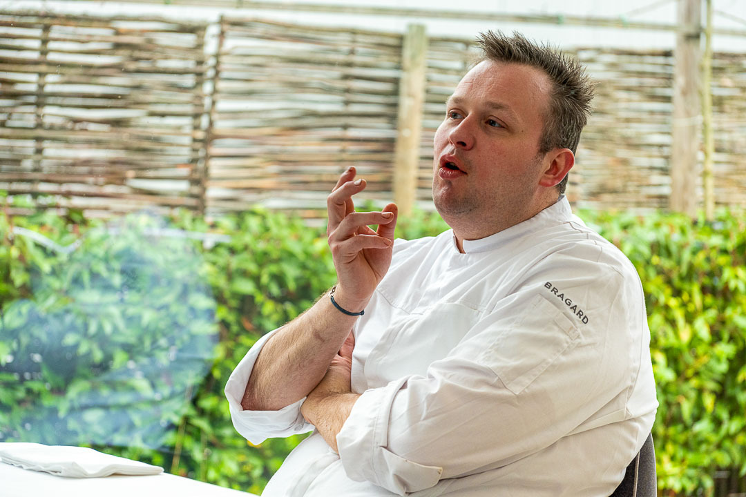 L'Envie by Hungry for More. Chef David Grosdent talking during the interview.