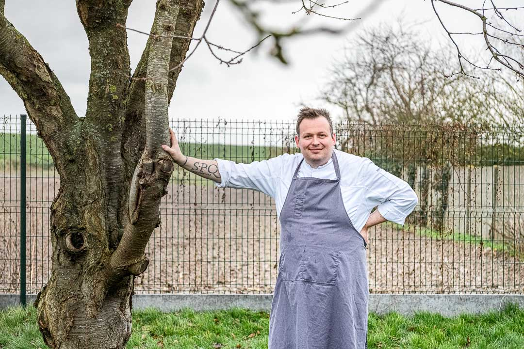 L'Envie by Hungry for More. Chef David Grosdent in the garden.
