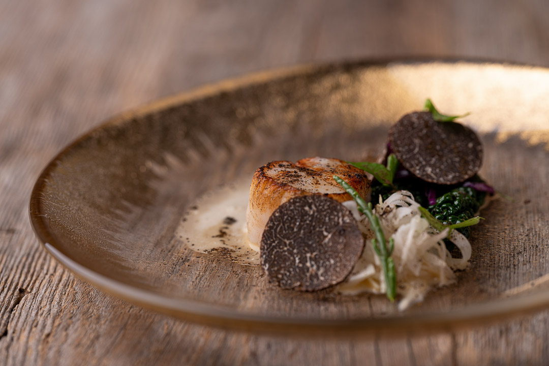 L'Envie by Hungry for More. Details of the coquille dish by chef David Grosdent.